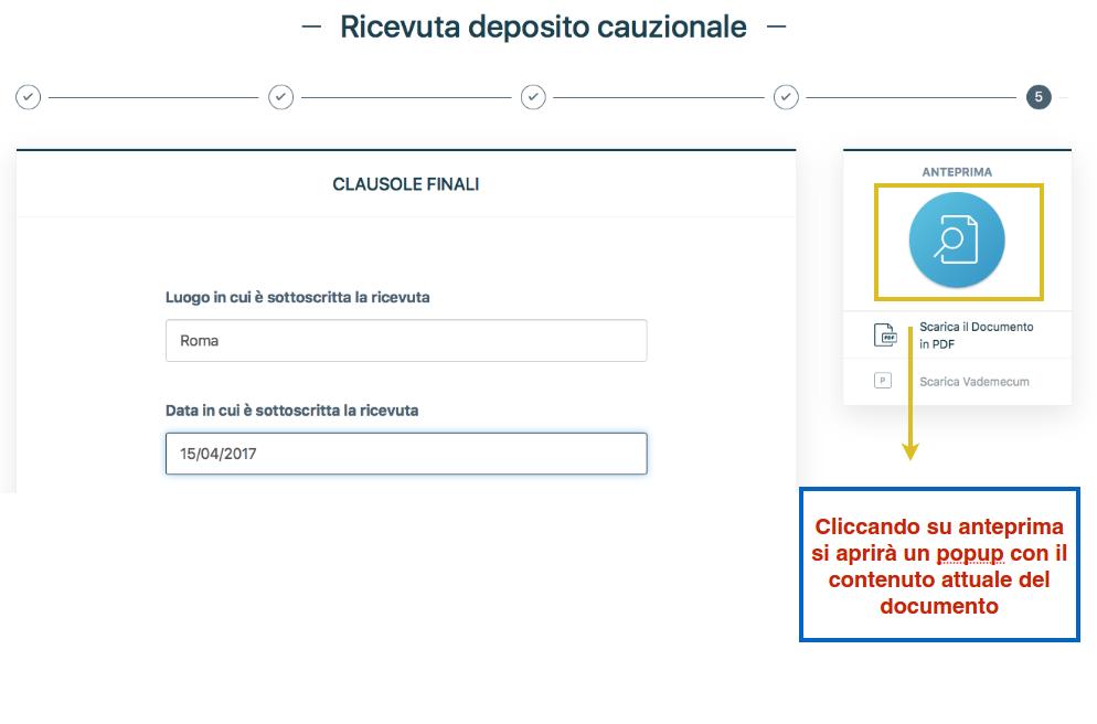 Modello di ricevuta per deposito cauzionale online creala for Contratto di locazione 4 4 modello